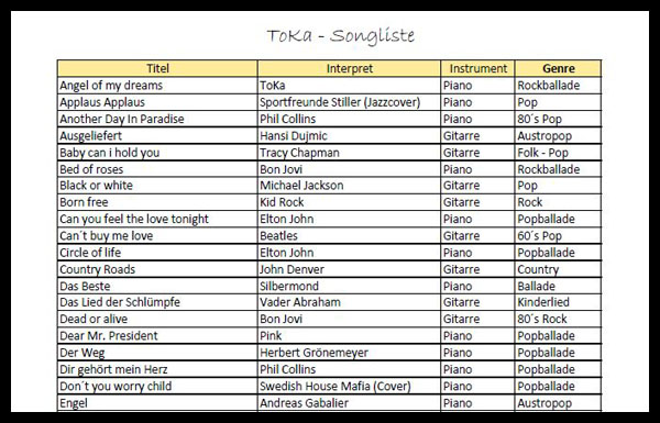 thumb downloads songliste